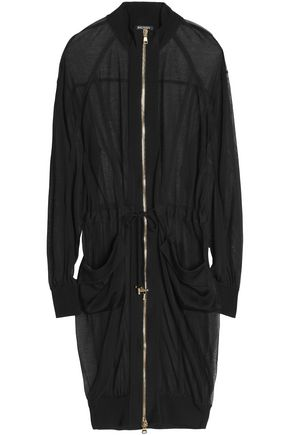 BALMAIN Grosgrain-trimmed knitted jacket