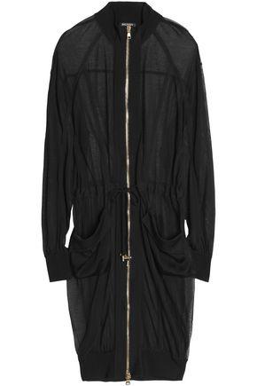 BALMAIN Grosgrain-trimmed slub jersey jacket