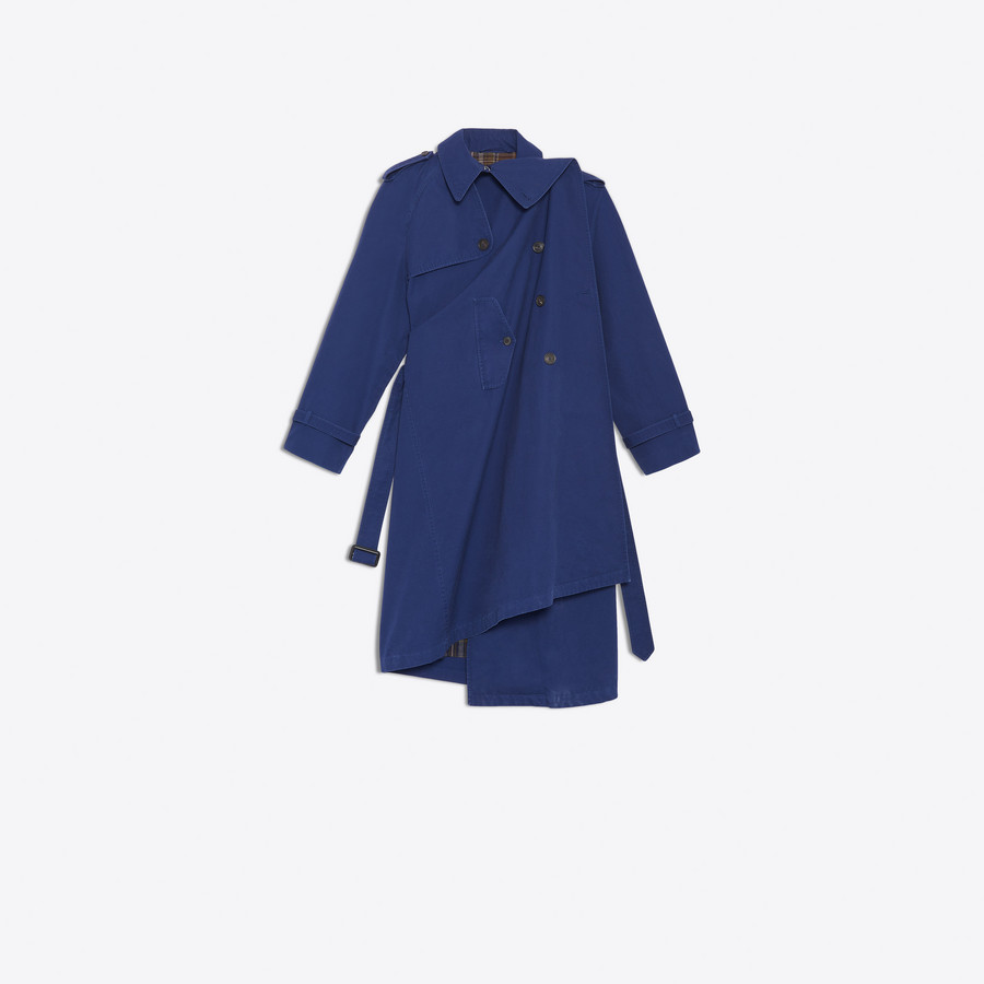 BALENCIAGA Pulled Trench Coats Woman f