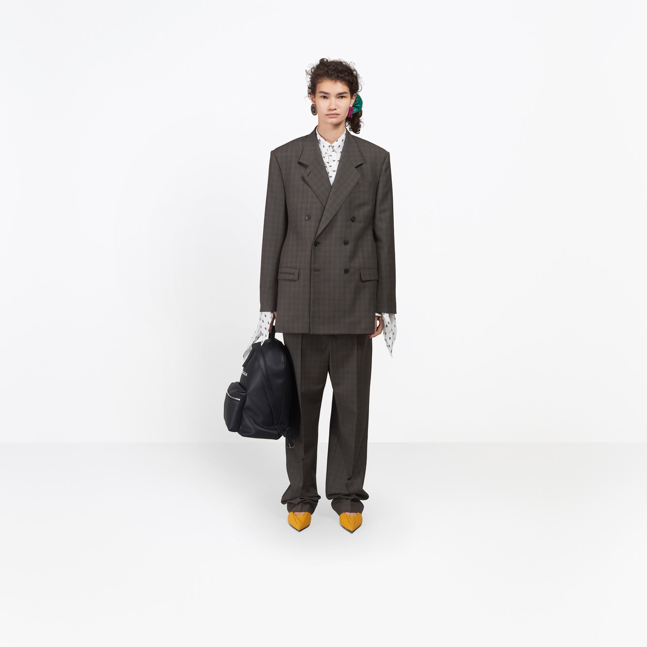 Checked weaving masculine double breasted tailored jacket by Balenciaga, available on balenciaga.com for $2350 Kendall Jenner Outerwear SIMILAR PRODUCT