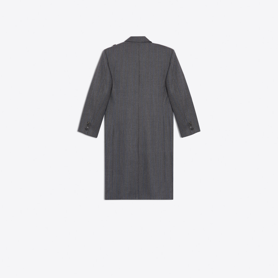 BALENCIAGA Pulled Double Breasted Coat Coats D d