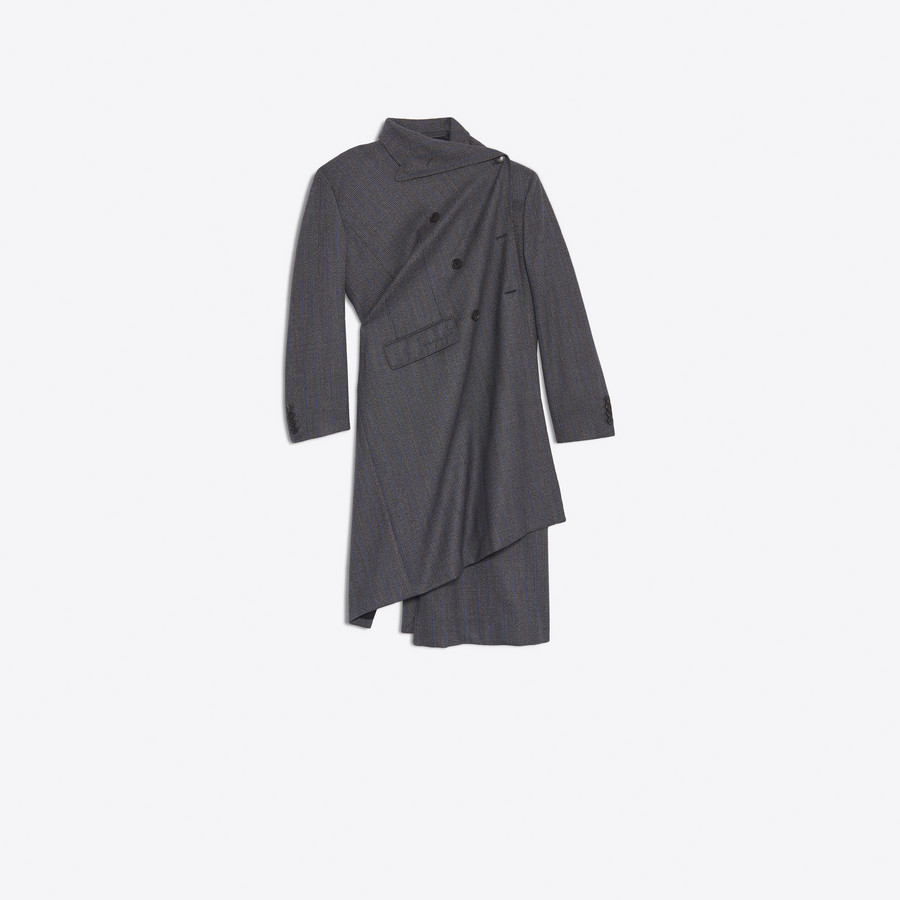 BALENCIAGA Pulled Double Breasted Coat Coats D f