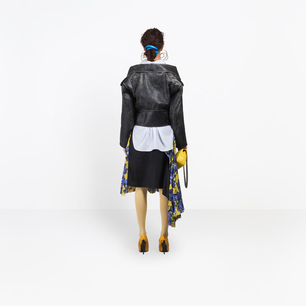 BALENCIAGA Jacket Woman Vintage Swing Biker Jacket h