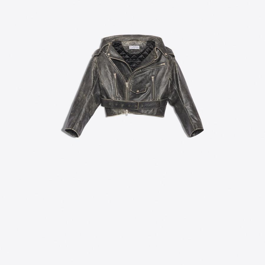 BALENCIAGA Vintage Swing Biker Jacket Jacket Woman f