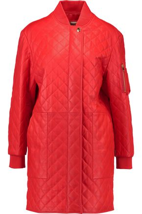 MOSCHINO Quilted leather coat
