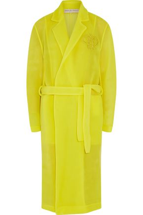 EMILIO PUCCI Embroidered gauze trench coat