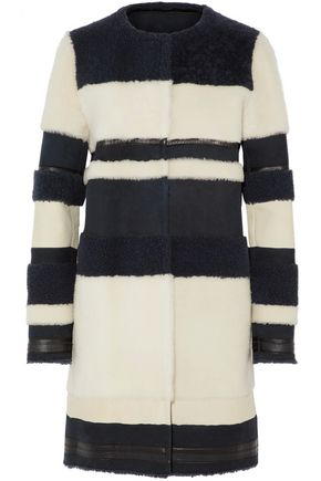YVES SALOMON Striped shearling coat
