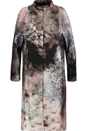 VALENTINO Cotton and silk-blend coat