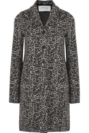HARRIS WHARF LONDON Jacquard-knit wool coat