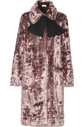 ISA ARFEN Crushed-velvet coat