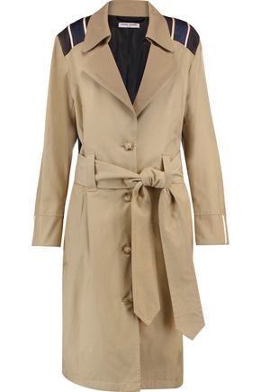 OPENING CEREMONY Satin-paneled cotton-blend trench coat