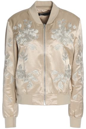 3x1 Embroidered cotton-blend satin bomber jacket