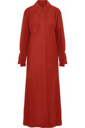 ROKSANDA Crepe de chine trench coat