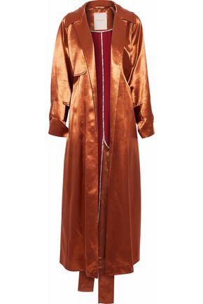ROKSANDA Belted lamé trench coat