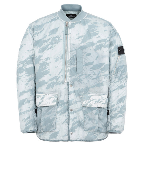 Jacket 40503 PADDED BOMBER JACKET WITH DROP POCKET AND ARTICULATION CHANNELS (LUCID FLOCK)  STONE ISLAND SHADOW PROJECT - 0
