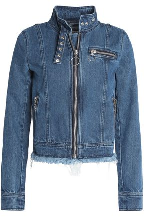 MARQUES ' ALMEIDA Frayed denim biker jacket