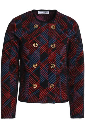 SONIA RYKIEL Checked bouclé jacket
