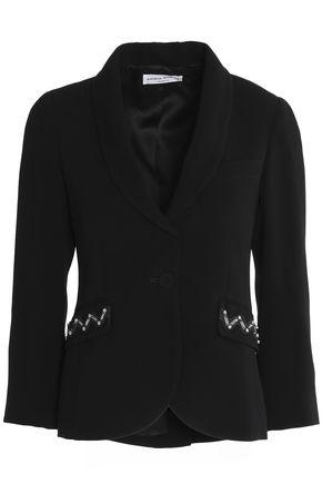 SONIA RYKIEL Crystal-embellished crepe blazer
