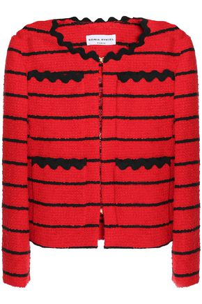 SONIA RYKIEL Striped bouclé-tweed jacket