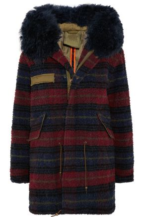 MR & MRS Italy Shearling-trimmed boiled wool parka