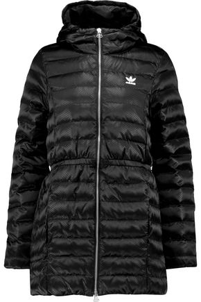 ADIDAS ORIGINALS Quilted shell hooded coat