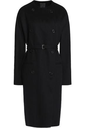 AGNONA Belted brushed cashmere coat