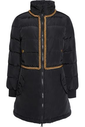 BOUTIQUE MOSCHINO Embellished quilted shell down coat