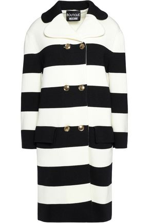 BOUTIQUE MOSCHINO Two-tone striped wool coat
