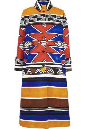 STELLA JEAN Printed felt coat