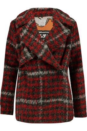 STELLA JEAN Checked bouclé coat