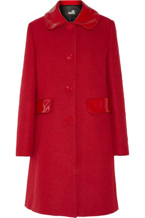 LOVE MOSCHINO Coated twill coat