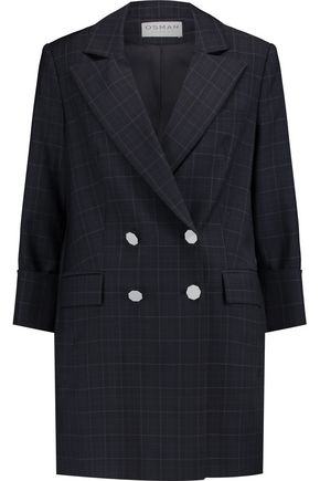 OSMAN Checked wool coat