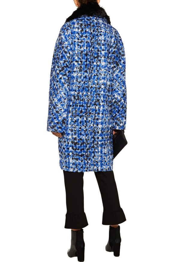 Oversized alpaca-trimmed wool-tweed coat | MAISON MARGIELA | Sale up to 70%  off | THE OUTNET