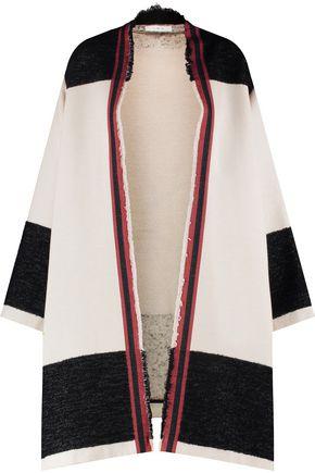 IRO Fringed cotton-blend cardigan