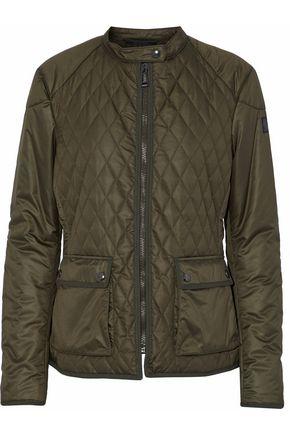 BELSTAFF Grosgrain-trimmed quilted shell bomber jacket
