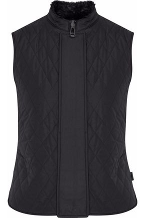 BELSTAFF Faux fur-lined quilted shell vest