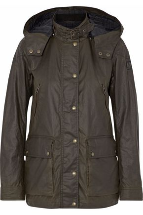 BELSTAFF Coated cotton hooded jacket