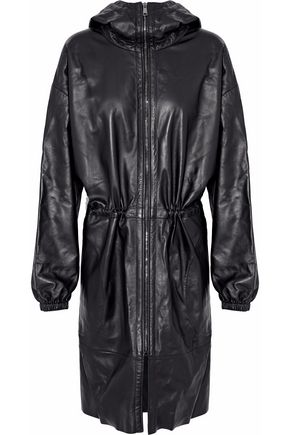 BELSTAFF Leather hooded jacket