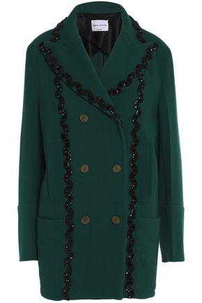 SONIA RYKIEL Crystal-embellished wool-blend coat