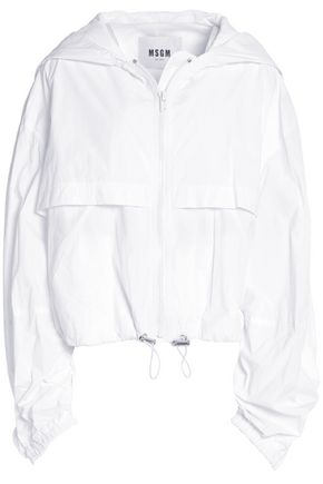 MSGM Shell hooded jacket