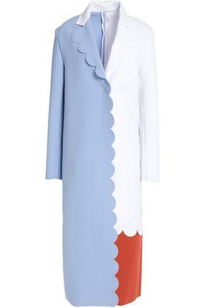 MSGM Color-block crepe coat