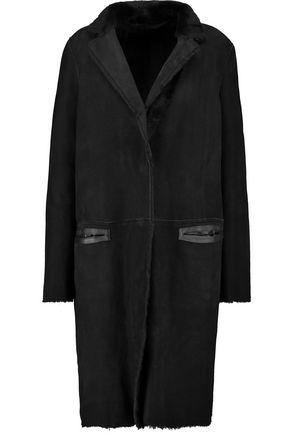 YVES SALOMON Reversible faux fur trimmed leather coat
