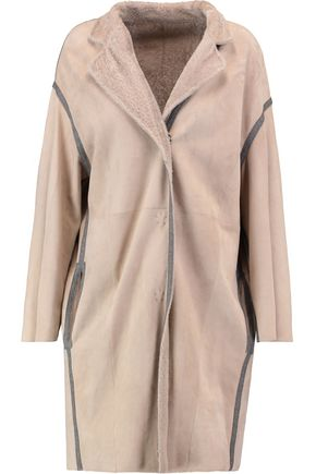 YVES SALOMON Reversible suede and cashmere-blend coat