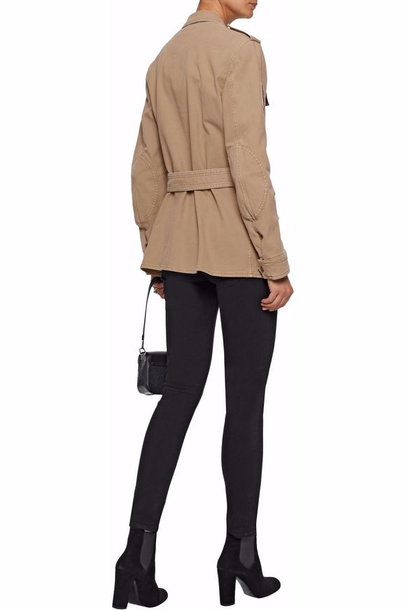 Belted appliquéd cotton-blend canvas jacket | BELSTAFF | Sale up to 70% off  | THE OUTNET