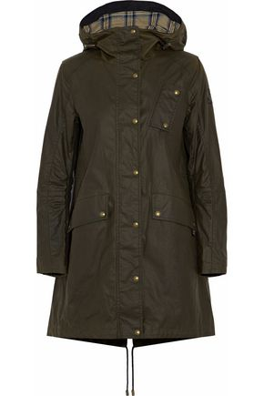 BELSTAFF Coated cotton-canvas hooded parka