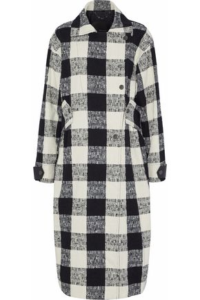 BELSTAFF Double-breasted checked cotton-blend bouclé-tweed coat