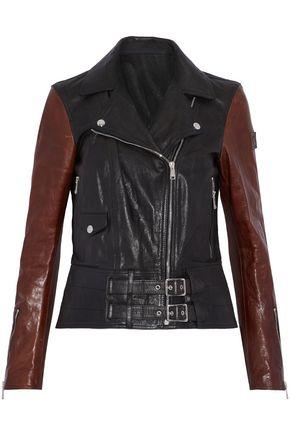 BELSTAFF Two-tone leather biker jacket