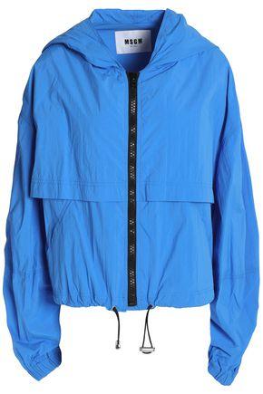 MSGM Shell hooded jacket