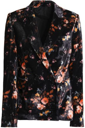 MSGM Printed velvet blazer