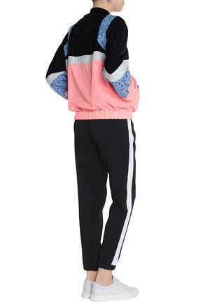 MSGM Giupure lace-paneled color-block shell windbreaker jacket
